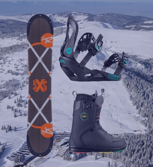 Adult snowboard set