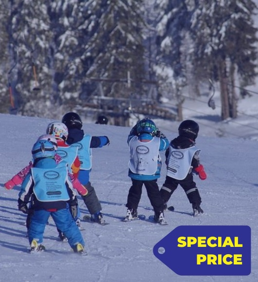 4 day skiing lessons in Kinderland