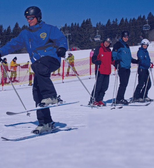 Half day skiing lessons all skill levels