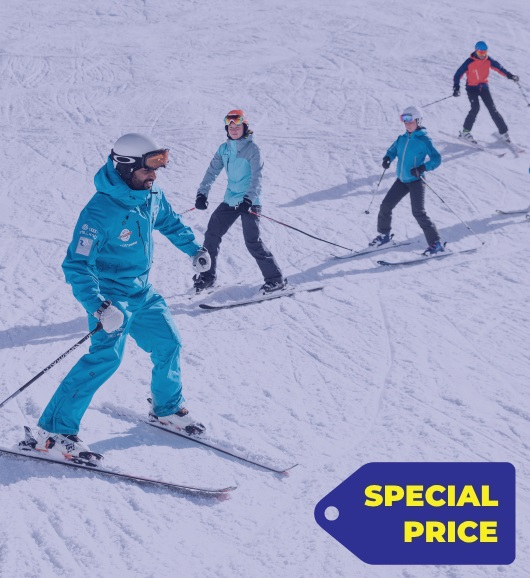 4 full day skiing lessons slightly advanced